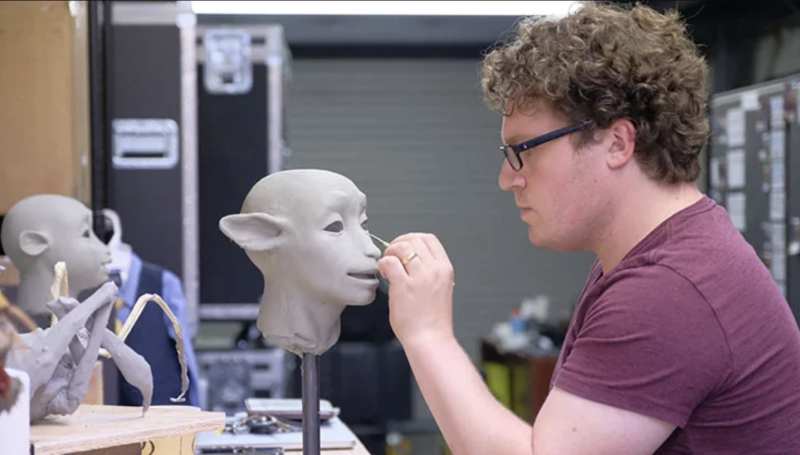 Toby Froud works on The Dark Crystal: Age Of Resistance (credit: Netflix)