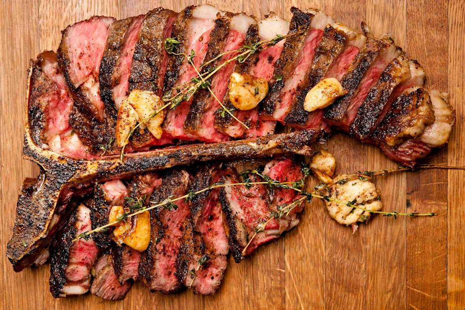Fancy a meaty meeting with the family? The Lunar New Year takeaway menu includes Cut's signature 1kg USDA prime porterhouse.