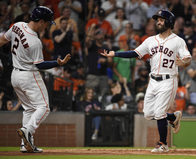 The Astros, led by Jose Altuve and Alex Bregman among others, continue to be No. 1 in our power rankings. (AP)