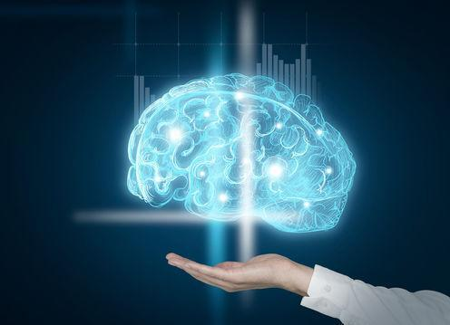 """<span class=""""caption"""">Holograms could be used to create complex 3D brain models.</span> <span class=""""attribution""""><a class=""""link rapid-noclick-resp"""" href=""""https://www.shutterstock.com/image-photo/hand-holding-image-brain-shining-blue-386286637?src=ICKVwcSEeN8MHaWBP_5KJA-1-0"""" rel=""""nofollow noopener"""" target=""""_blank"""" data-ylk=""""slk:Shutterstock"""">Shutterstock</a></span>"""
