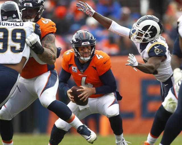 Denver quarterback Case Keenum had another mediocre day as the Broncos lost to the Rams. (AP)
