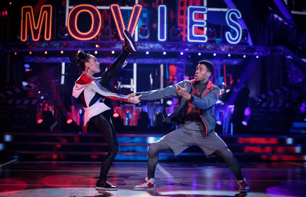 Programme Name: Strictly Come Dancing 2021 - TX: 09/10/2021 - Episode: Strictly Come Dancing - TX3 LIVE SHOW (No. n/a) - Picture Shows: ++Live Show++ Nancy Xu, Rhys Stephenson - (C) BBC - Photographer: Guy Levy