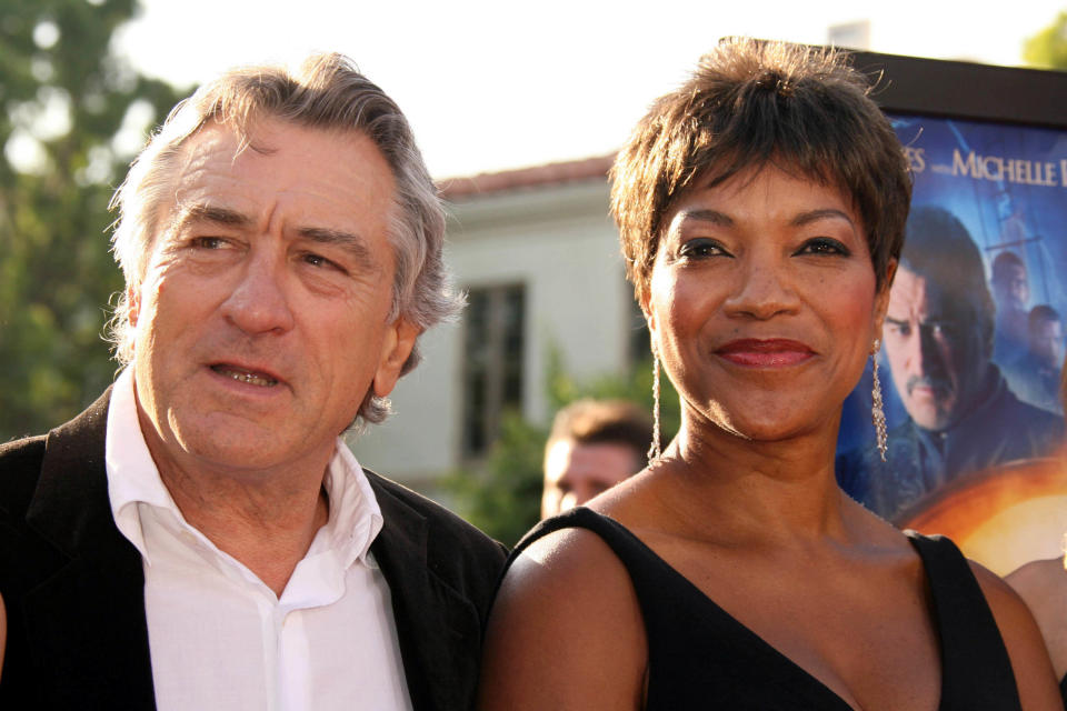 Photo by: RE/Westcom/STAR MAX/IPx 2018 7/29/07 Robert DeNiro and his wife Grace Hightower at the premiere of