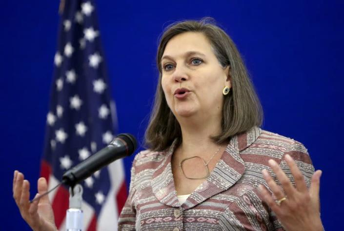 FILE PHOTO: U.S. Assistant Secretary of State for European and Eurasian Affairs Nuland attends a news conference in Moscow