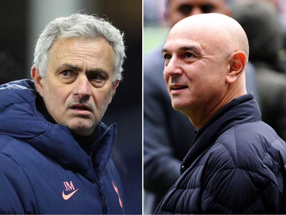 Tottenham manager Jose Mourinho and chairman Daniel Levy (PA / Getty Images)