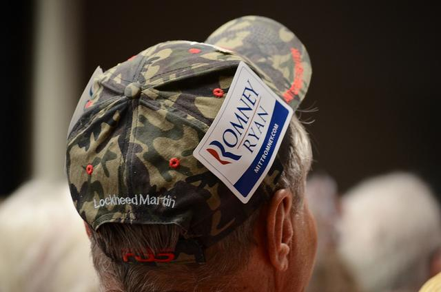 A Romney supporter in Henderson, Nev. (Thomas Dwyer)