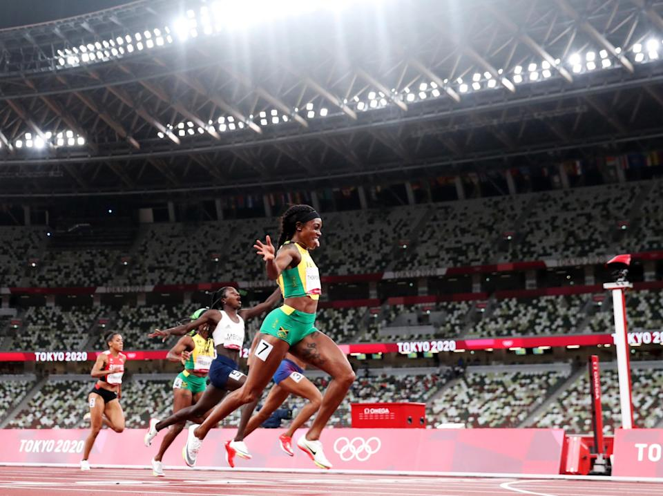 Elaine Thompson-Herah won 200m gold once again (Getty Images)
