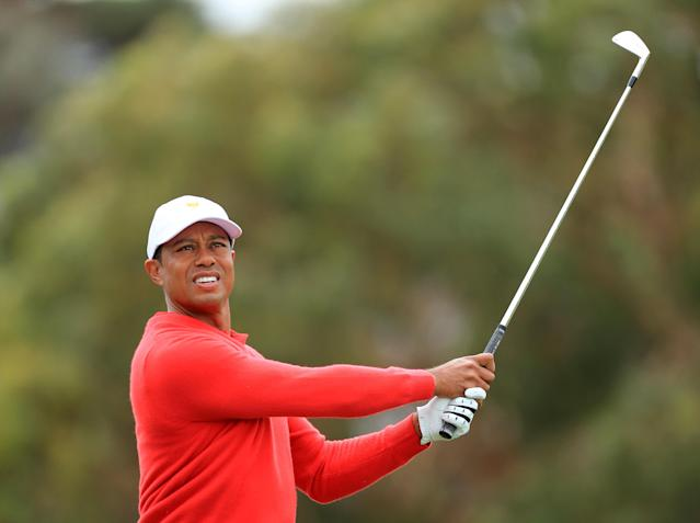 After picking up a win at the ZOZO Championship last fall, Tiger Woods will continue his quest for career win No. 83 at the Farmers Insurance Open. (David Cannon/Getty Images)