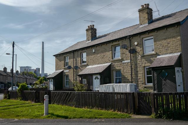 Homes in Huddersfield as figures show UK property sales have picked up since the December election. (Anthony Devlin/Getty Images)