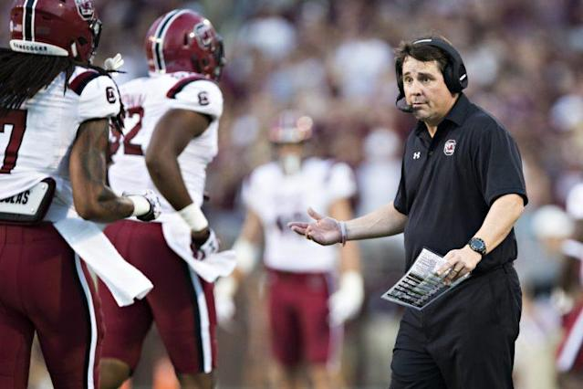 Will South Carolina coach Will Muschamp get revenge on his former school on Saturday? (Getty)