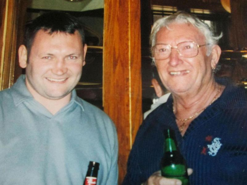 Gary with his father Victor, in whose memory he is running (PA)