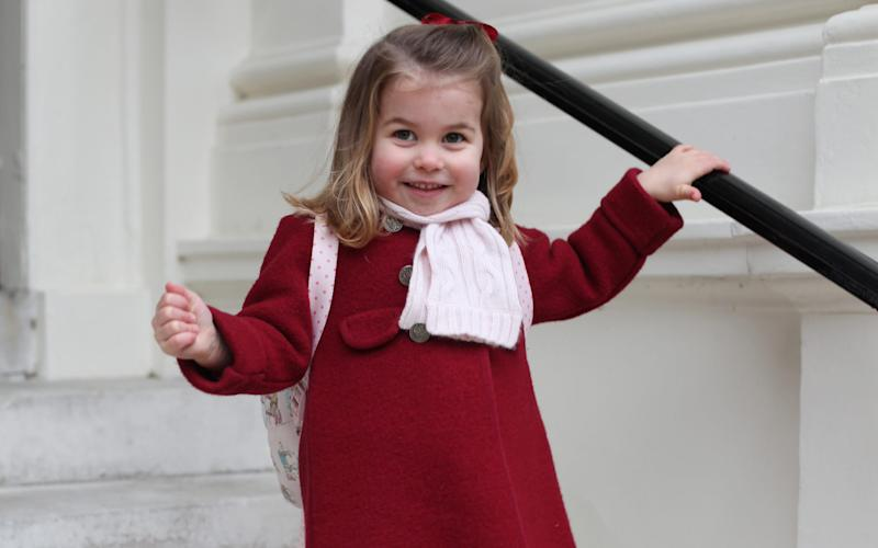 Charlotte, who celebrated her fourth birthday on May 4, will become a pupil at Thomas's Battersea in south London - 2018 HRH The Duchess of Cambridge