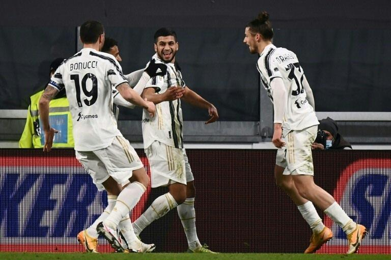 Juventus newcomer Hamza Rafia (C) scored the winner against Genoa in the Italian Cup last-16.