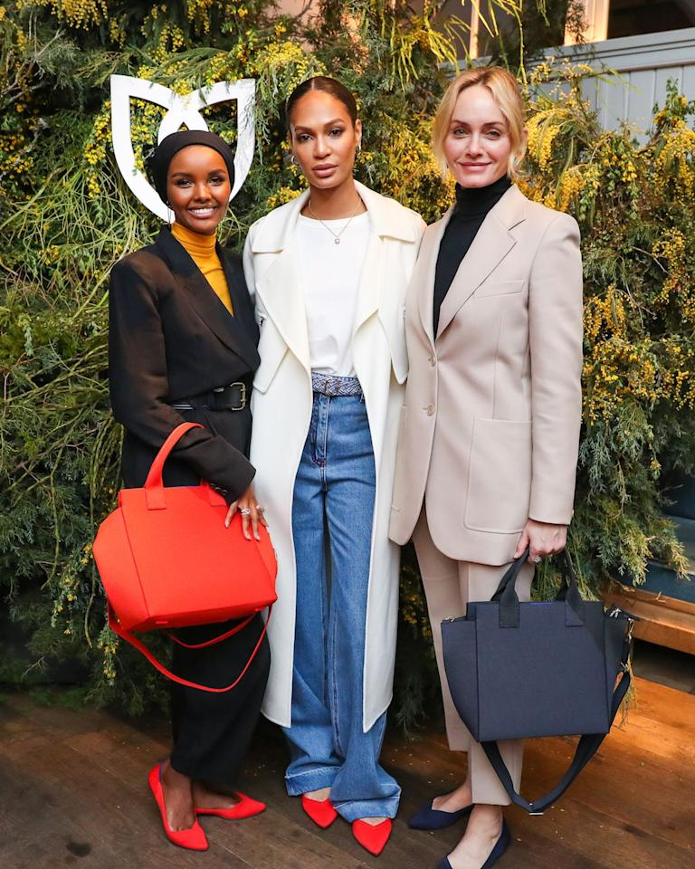 <p>Celebrating the launch of Rothy's bag collection at NYC's La Mercerie on March 3.</p>