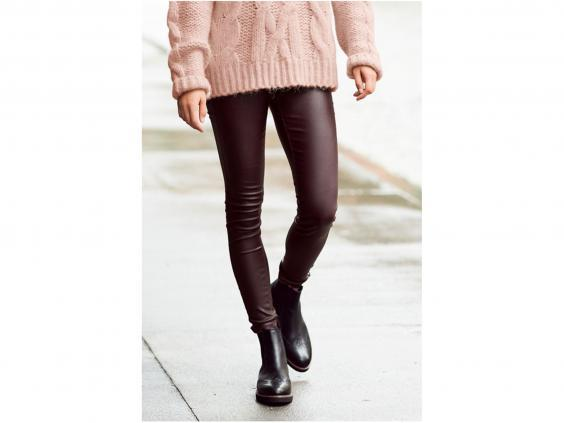 Comfortable but still formal, these coated leggings have a luxurious look (Next)
