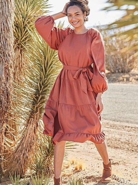 <p><span>The Get Women's Tiered Dress with Long Sleeves</span> ($32) has nearly perfect five-star reviews on Walmart's website, a testament to how much you need it in your closet. I mean, don't you think this would be the perfect Thanksgiving number? </p>