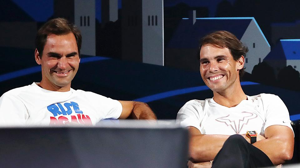 Roger Federer and Rafael Nadal, pictured here at the 2019 Laver Cup.