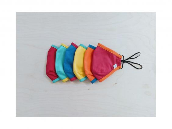 Colourful and fun, these comfortable cotton masks are an eye-catching, feel-good purchase (Pucker)