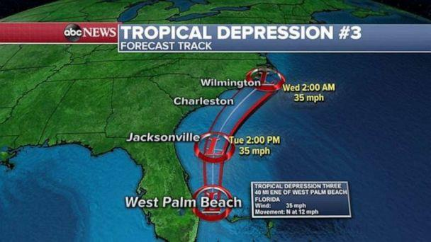 PHOTO: The tropical depression is not expected to strengthen into a named storm. (ABC News)