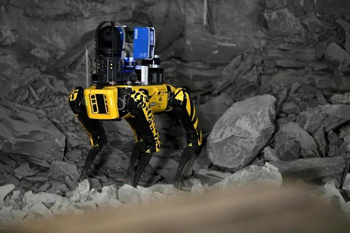 The robot can navigate areas and terrain that could be dangerous to humans.