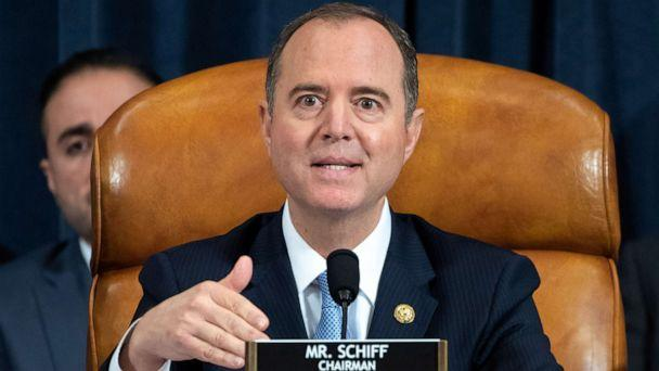 PHOTO: Chairman Adam Schiff speaks during the first public hearings held by the House Permanent Select Committee on Intelligence as part of the impeachment inquiry into President Donald Trump, on Capitol Hill in Washington, Nov. 13, 2019. (Saul Loeb/Pool via Reuters)