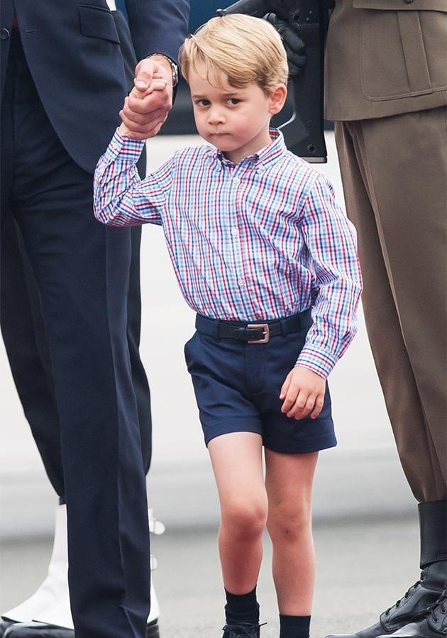 There's a rather snobby reason why Kate always dresses George in short shorts. Photo: Getty Images