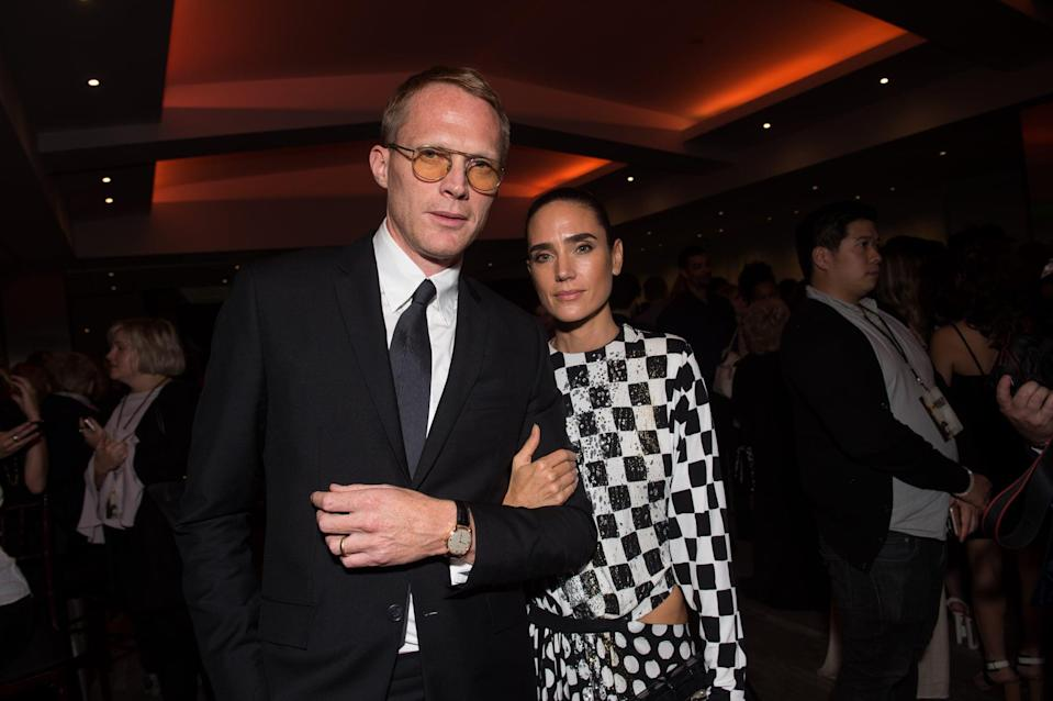 BEVERLY HILLS, CA - OCTOBER 13:  Actors Paul Bettany (L) and Jennifer Connelly attend the after party for the premiere of Lionsgate's 'American Pastoral' on October 13, 2016 in Beverly Hills, California.  (Photo by Emma McIntyre/Getty Images)