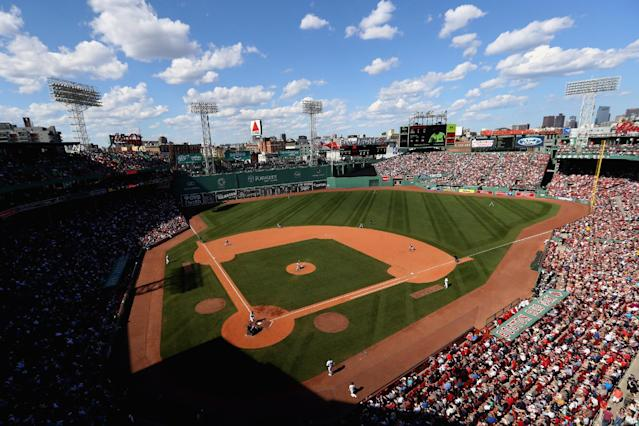 A general view of Boston's Fenway Park, which will host Game 3 of the ALDS on Sunday. (Getty Images)
