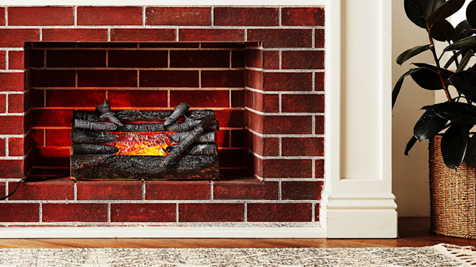 A warm and cozy fire—without the actual fire.
