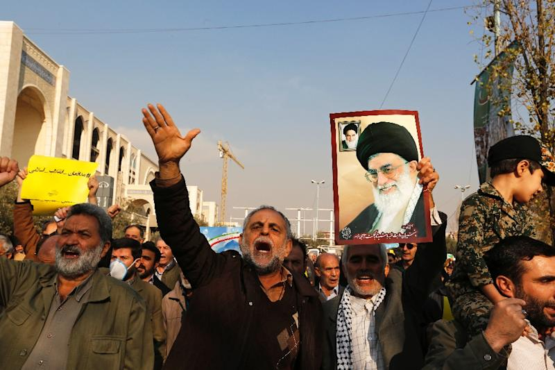 Pro-regime protests have been held in Iran in reaction to demonstrations against the government and the cost of living