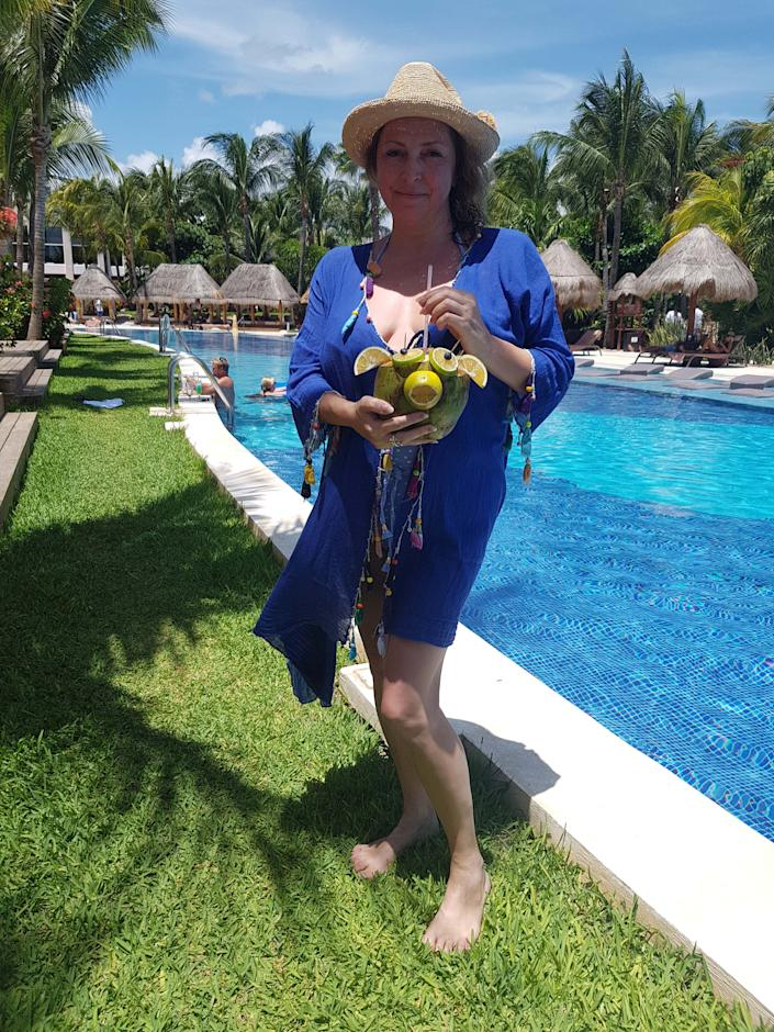 Helen Way on holiday prior to her accident. (Caters)