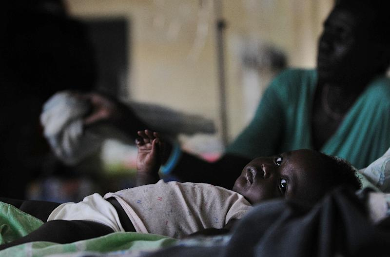 The malaria vaccine is aimed at young children -- the main victims of malaria -- and is being developed by the British pharmaceutical giant GlaxoSmithKline (GSK) (AFP Photo/Tony Karumba)
