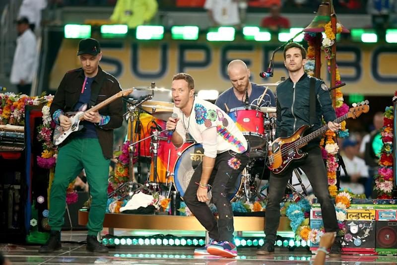 Coldplay performing at the 2016 Super Bowl | Christopher Polk/Getty