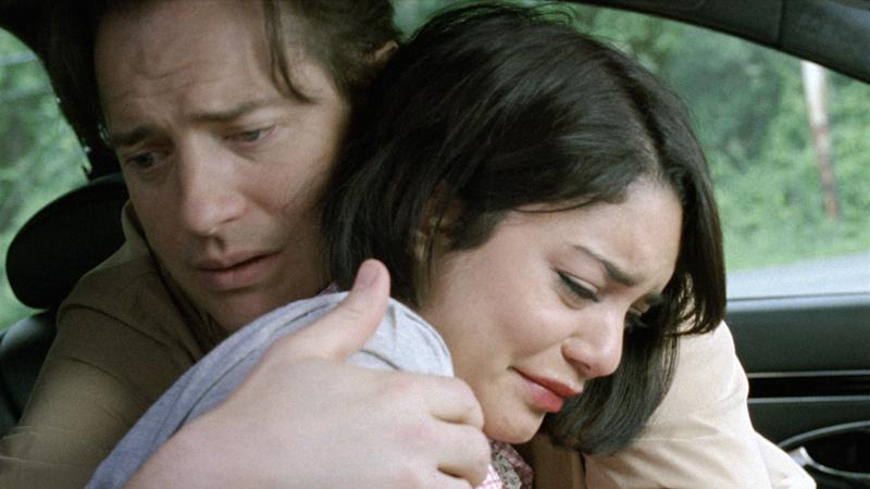 """This image released by Roadside Attractions shows Brendan Fraser, left, and Vanessa Hudgens in a scene from """"Gimme Shelter."""" (AP Photo/Roadside Attractions)"""
