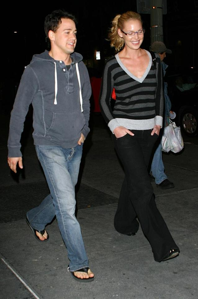 """A bespectacled Katherine Heigl and her BFF T.R. Knight leave the Arclight movie theater in Hollywood, CA. Octavio R. Vera Jr./<a href=""""http://www.splashnewsonline.com"""" target=""""new"""">Splash News</a> - October 29, 2007"""