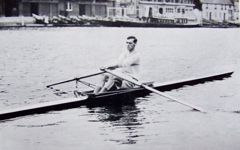 "Frederick Septimus ""Cleg"" Kelly on the Thames at Henley"