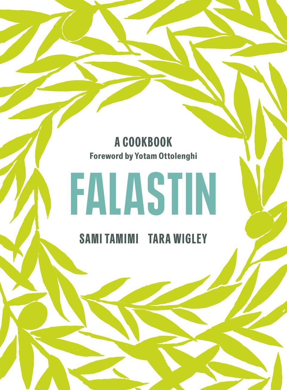 "<p>A love letter to the food and people of Palestine, featuring recipes and stories that take the reader on a virtual journey through Bethlehem, East Jerusalem, Nablus, Haifa, Akka, Nazareth and the West Bank. Sami Tamimi and Tara Wigley's Falastin provides a delectable mix of the traditional and the contemporary. Shining a fresh light on the Palestinian pantry, recipes include roasted cod with a coriander crust, sweet tahini rolls, and labneh cheesecake with roasted apricots, honey and cardamom. With ideas for both everyday meals and shareable feasts, Falastin is full of recipes that you will fall in love with. </p><p><a href=""https://www.amazon.co.uk/Falastin-Cookbook-Sami-Tamimi/dp/1785038729/ref=sr_1_1?crid=2LRHMQGZZJV5I&dchild=1&keywords=falastin+the+cookbook&qid=1604167917&s=books&sprefix=falastin%2Cstripbooks%2C209&sr=1-1"" rel=""nofollow noopener"" target=""_blank"" data-ylk=""slk:'Falastin: a Cookbook'"" class=""link rapid-noclick-resp"">'Falastin: a Cookbook'</a> by Sami Tamimi and Tara Wigley (£27, Ebury Press) is out now.</p>"