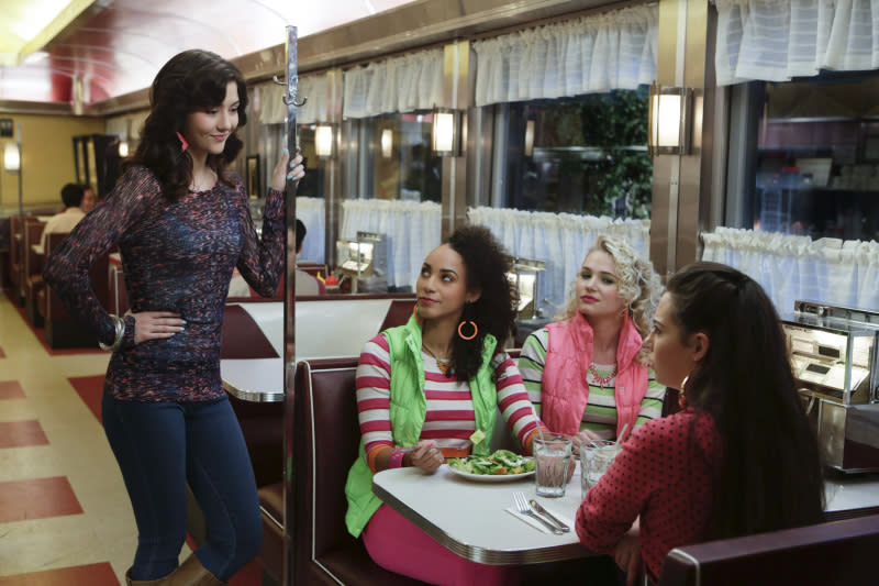 """Dangerous Territory"" -- Katie Findlay as Maggie, Alexandra Miller as Jen, Whitney Vance as Jen, and Chloe Bridges as Donna"