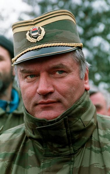 A 1994 photo taken in Sarajevo shows Ratko Mladic, then a Bosnian Serb General but now facing a war crimes verdict at a UN court in The Hague for some of Europe's worst post WWII atrocities