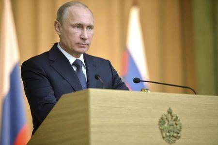 Russian President Putin attends a session at the General Prosecutor's Office in Moscow