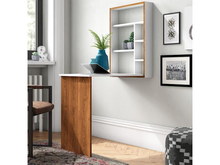 This is the perfect piece of office equipment that doubles up nicely for displaying home decorWayfair