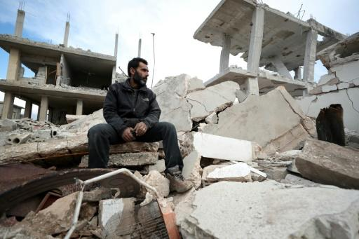 Syrian father of four Wael returned to his devastated hometown to salvage the last of his family's belongings
