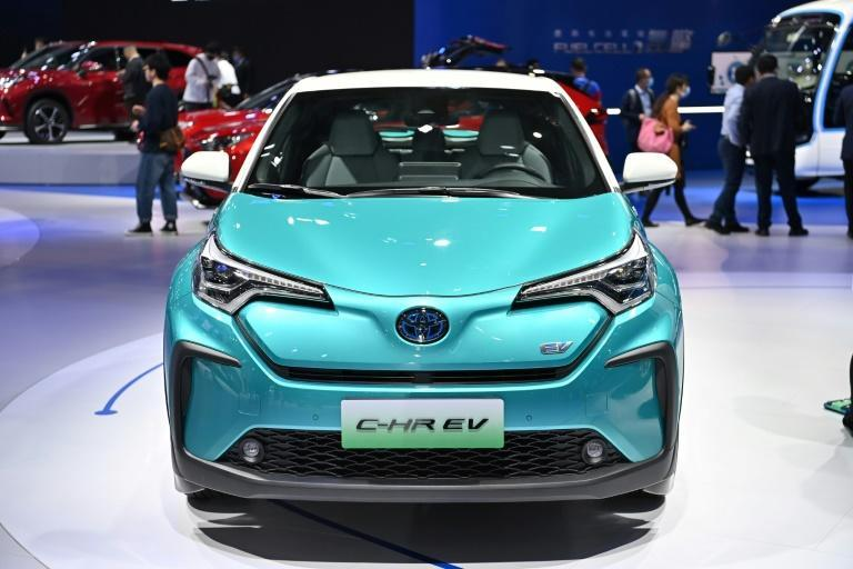 Toyota showed off at the Shanghai motor show a number of electric vehicles for the Chinese market, currently the only country where it offers electric versions of its popular models