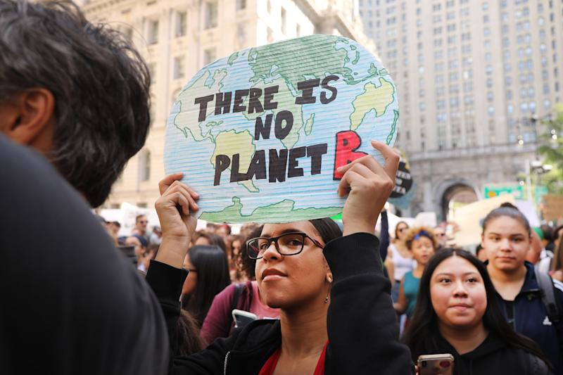People march to demand action on the global climate crisis on September 20, 2019 in New York City. | Spencer Platt—Getty Images