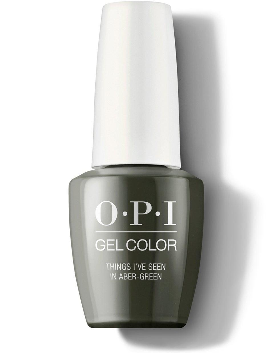 "<h3>Olive Green</h3><br>Whether you call it army or olive, earthy <a href=""https://www.refinery29.com/en-us/green-nail-polish"" rel=""nofollow noopener"" target=""_blank"" data-ylk=""slk:shades of green"" class=""link rapid-noclick-resp"">shades of green</a> are taking over the trend reports this fall, according to editorial nail artist <a href=""https://www.instagram.com/betina_goldstein/"" rel=""nofollow noopener"" target=""_blank"" data-ylk=""slk:Betina Goldstein"" class=""link rapid-noclick-resp"">Betina Goldstein</a>. For toes, we're especially into this deep green from <a href=""https://www.refinery29.com/en-us/2019/09/241891/opi-fall-nail-polish-colors-2019"" rel=""nofollow noopener"" target=""_blank"" data-ylk=""slk:OPI's Scotland collection"" class=""link rapid-noclick-resp"">OPI's Scotland collection</a>. <br><br><strong>OPI Infinite Shine</strong> OPI Nail Polish in Things I've Seen in Aber-green, $, available at <a href=""https://go.skimresources.com/?id=30283X879131&url=https%3A%2F%2Fwww.ulta.com%2Fscotland-infinite-shine-collection%3FproductId%3Dpimprod2008445%26sku%3D2551037%26cmpid%3DPS_Non%21google%21Product_Listing_Ads%26cagpspn%3Dpla%26CATCI%3Dpla-294680686006%26CAAGID%3D18002902230%26CAWELAID%3D330000200001809145%26CATARGETID%3D330000200001332369%26cadevice%3Dc%26gclid%3DEAIaIQobChMIr--Xi_nL5AIVhv_jBx0KlAOJEAQYAiABEgIwoPD_BwE"" rel=""nofollow noopener"" target=""_blank"" data-ylk=""slk:Ulta Beauty"" class=""link rapid-noclick-resp"">Ulta Beauty</a>"