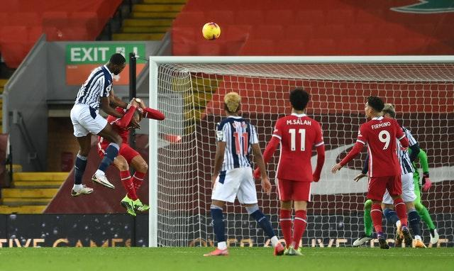 Semi Ajayi heads in West Brom's equaliser
