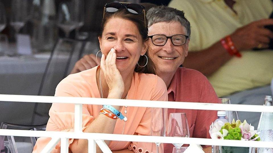 Bill Gates and Melinda Gates attend the Global Champions Tour of Monaco in Monte-Carlo, 23 June 2017