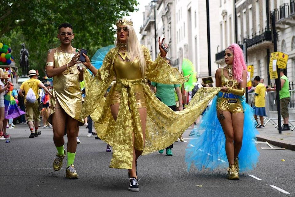 Parade goers during Pride in London (Getty Images for Pride in London)