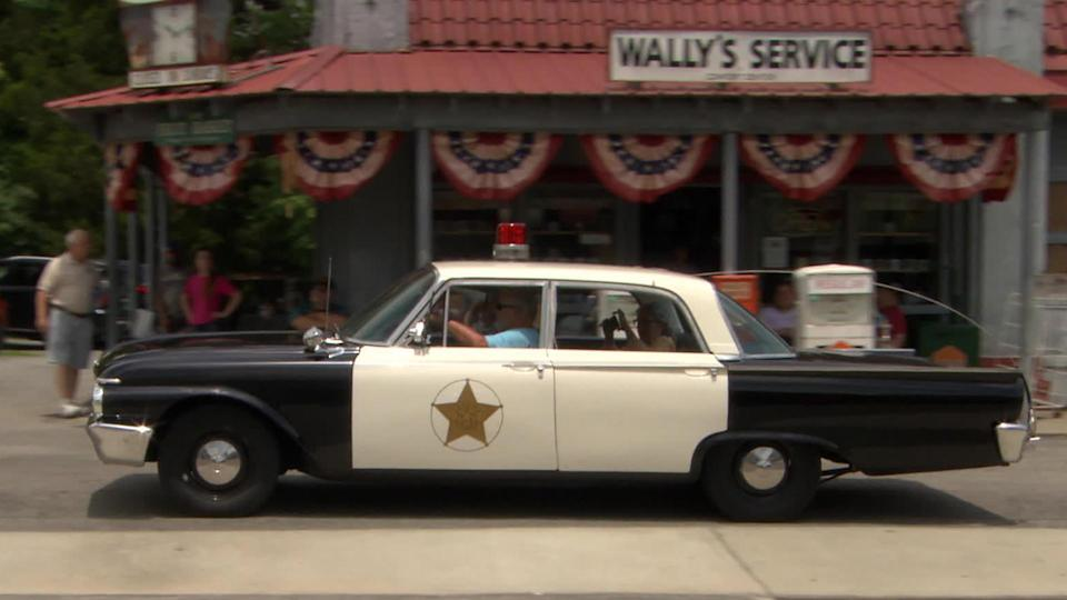 Take a ride in a vintage Ford Galaxy squad car, the kind Barney Fife would use to drive malefactors to the Mayberry Jail in