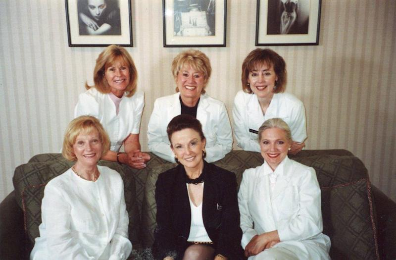 Maggie Lockridge poses with the charge nurses of Shanteque, the aftercare service she provided for plastic surgery patients.